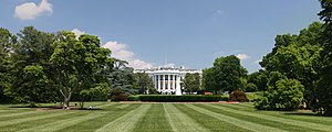 Lawn in front of the White House, Washington, ...