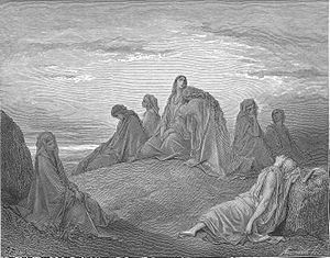 English: Israelite Women Mourn with Jephthah's...