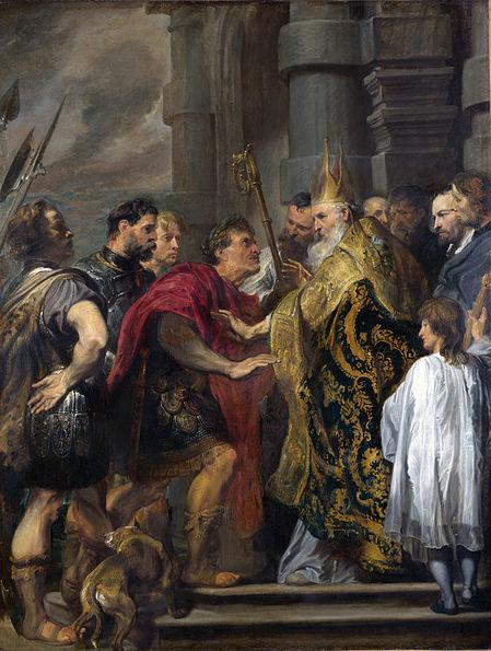 Teodósio excomungado
