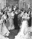 Stock image of an early 20th century social gathering similar to the one Miss Maud Gordon attended.