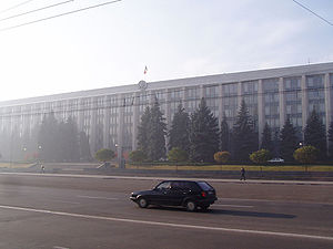 The Government Building – seat of the Moldovan...