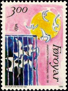 Faroe stamp 130 amnesty international