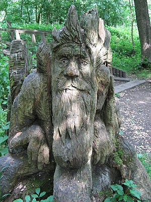 English: Green Man. This superb Green Man is c...