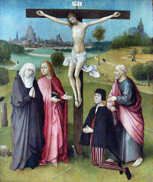 Crucifixion of Jesus of Nazareth, painting ca....