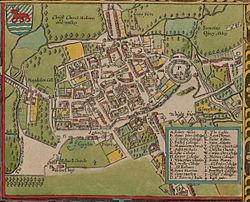 Plano de Oxford (1605).