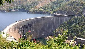Kariba Dam of the Zambezi (Zambia/Zimbabwe)