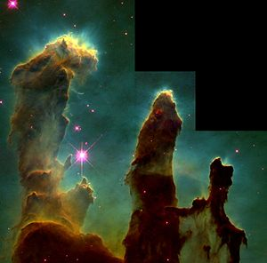 English: M 16, Hubble images