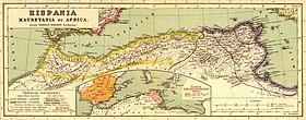 """Cartina delle province africane """"centrali"""" di Numidia e Africa proconsolare"""