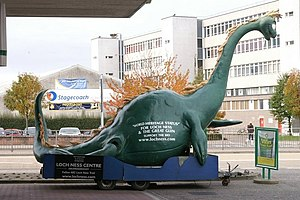 English: Nessie in Inverness A Loch Ness monst...
