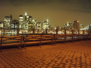 English: A view of NYC skyline as taken from t...