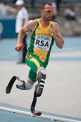 English: Oscar Pistorius during 2011 World cha...