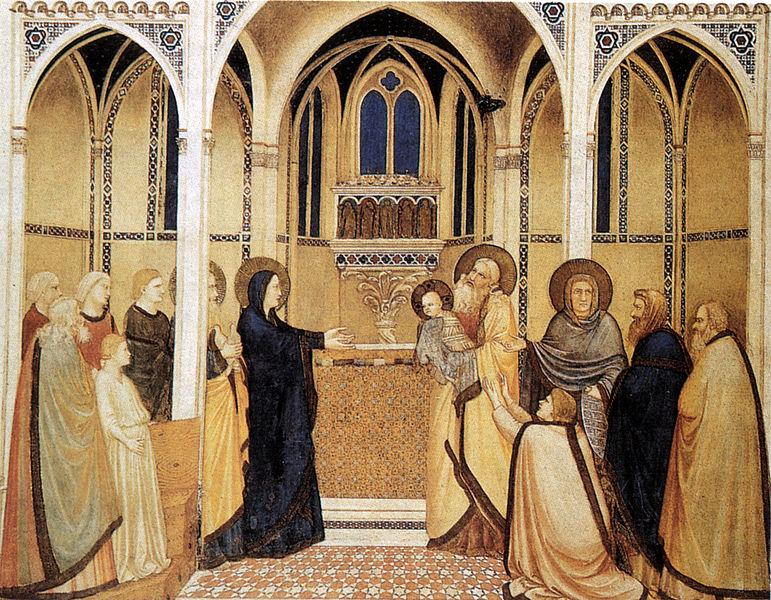 naśladowca Giotta, prezentacja, ok 1316 r.