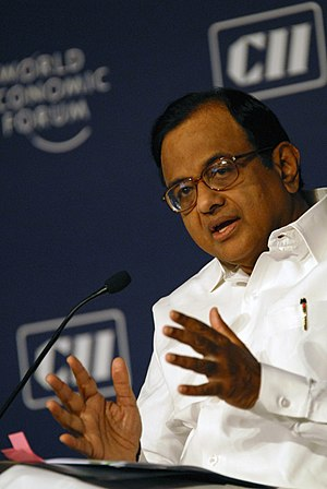 English: India's Minister of Finance Palaniapp...