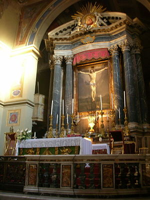Main Altar, San Lorenzo in Lucina, Rome. The C...