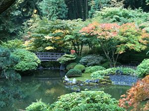 English: Strolling Pond Garden at the Portland...