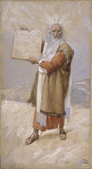 Moses and the Ten Commandments, c. 1896-1902, ...
