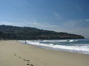 view to Palos Verdes from Torrance Beach