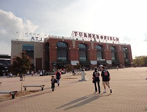 English: The front of Turner Field, the home o...