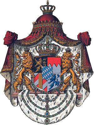 Royal coat of arms of the House of Wittelsbach.