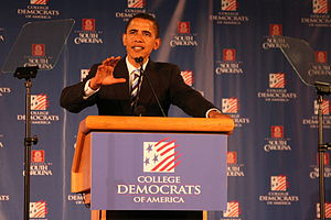 English: Barack Obama Speaks to College Democrats