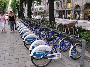 Bycycles in Oslo.