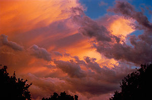 An example of various cloud colors