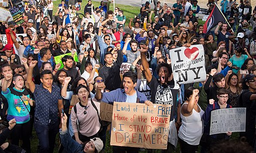 DACA protest Columbus Circle (90569)