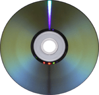 Underside of a DVD-R disc