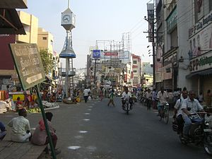 Typical streetlife in Erode, capital of Erode ...