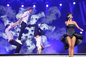 Inna at Sopot International Song Festival, Pol...