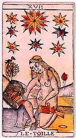 Star Tarot Card and dreams about feces