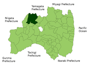 Location Map of Kitakata in Fukushima Prefectu...