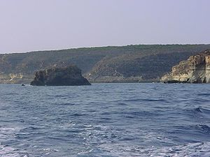 Coastline of Lampedusa