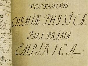 """Fragment of M. Lomonosov's manuscript """"Ph..."""