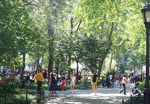 Madison Square Park on a summer morning