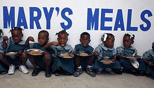 English: Mary's Meals Haiti by Angela Catlin