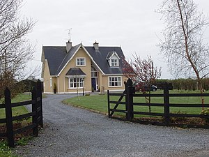 English: Modern detached house near Newcastle ...