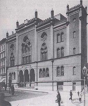 Polski: Nowa Synagoga w Szczecinie English: Ne...