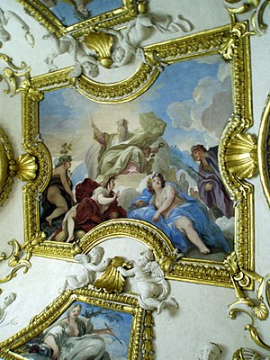 Detail of the interior of the Royal Palace of ...