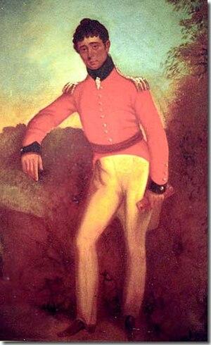 English: Colonel William Light - self portrait...