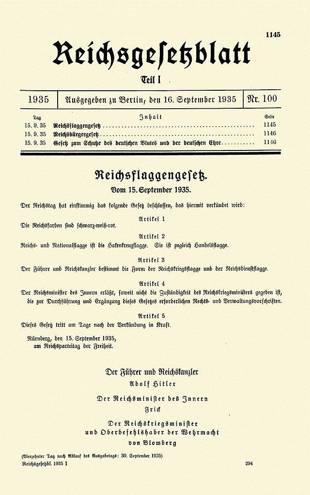 Herausgegeben vom Reichsministerium des Innern - Reichsgesetzblatt I 1935 S. 1145