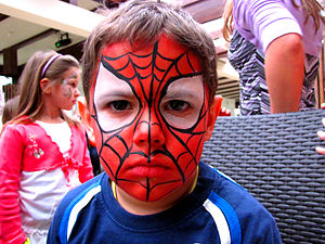 Magyar: Spiderman arcfestés