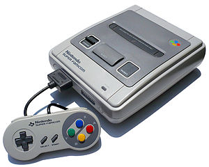 Nintendo Super Famicom (SHVC-001) with control...