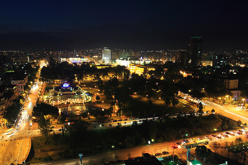 File:Tirana by Night.jpg