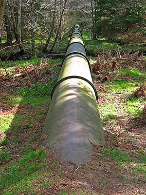 English: Water pipeline. ( 2 ).