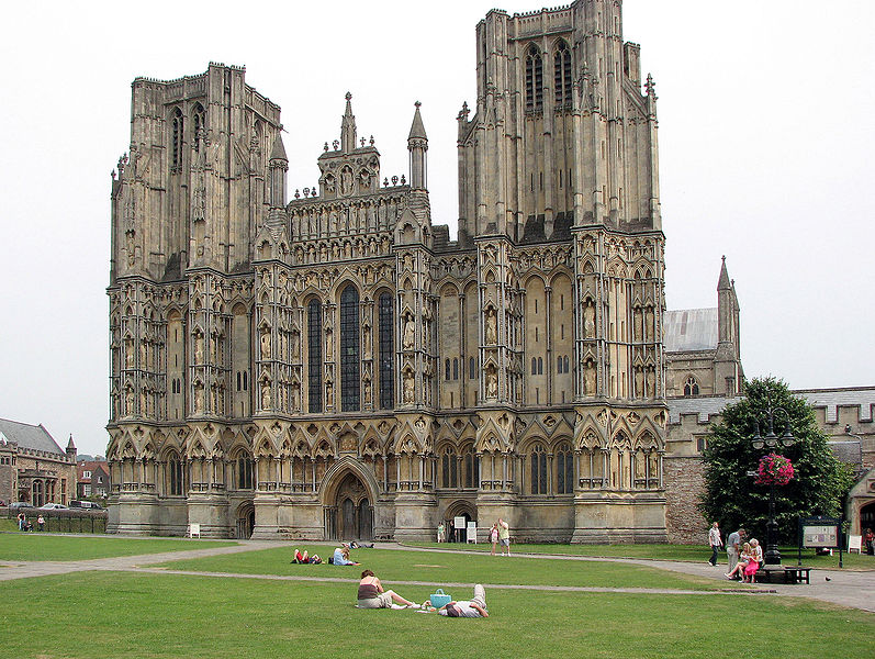 fasada katedry w Wells