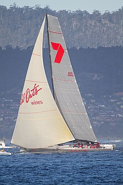 Wild Oats XI about to finish 2011 Sydney to Hobart.jpg
