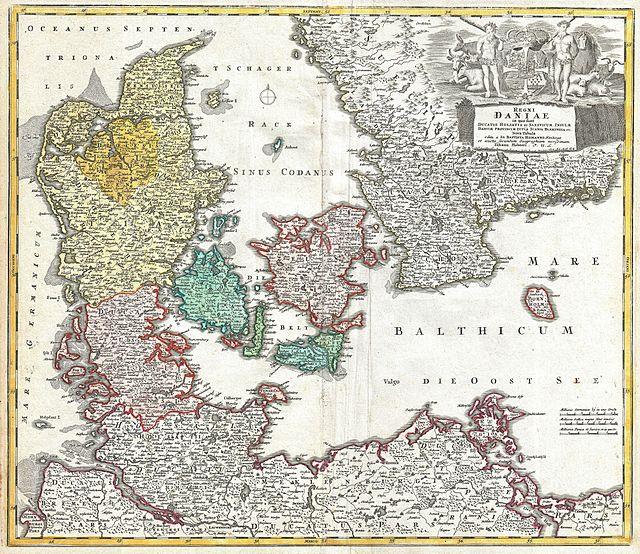1730 Homann Map of Denmark - Geographicus - RegniDaniae-homann-1730