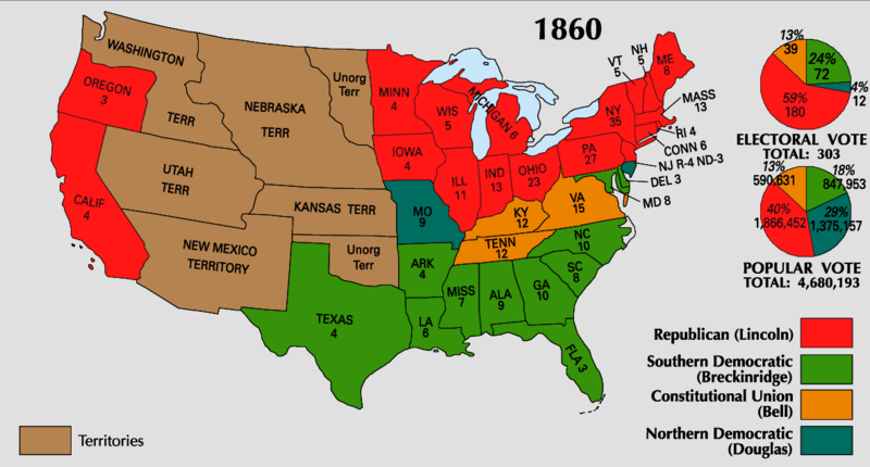 The presidential election of 1860 national results and results in in the shenandoah valley the the popular vote was publicscrutiny Gallery