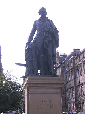 Statue of Adam Smith on the Royal Mile, Edinburgh